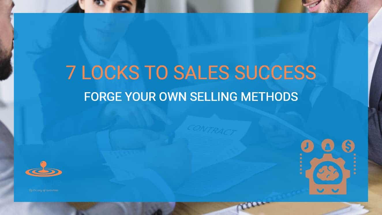 7 Locks to Sales Success: A Couple of Salespeople Trying to Close a Sales with a Business Executive